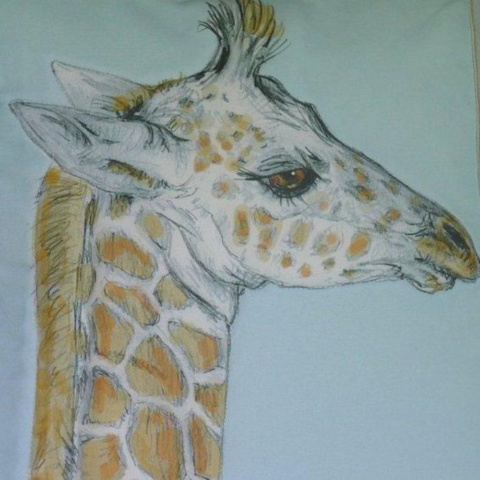Giraffe Baby Cotton-Blue Image