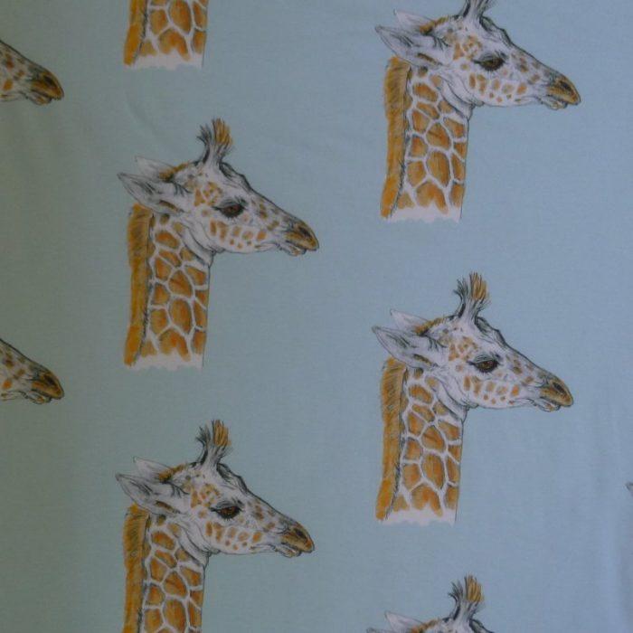 Giraffe Baby Minky-Blue Image
