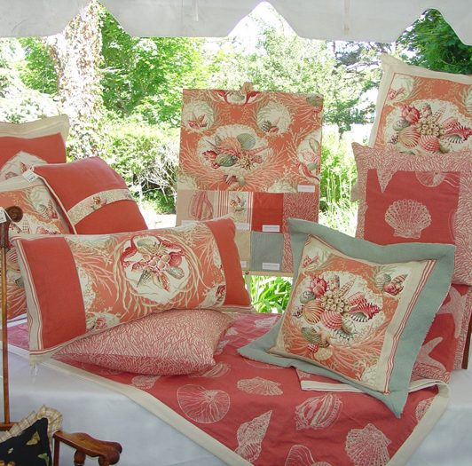 Seaworthy Pillows in Coral Image
