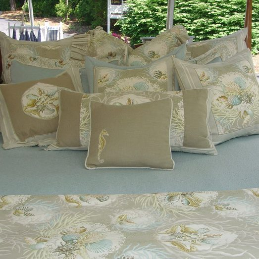 Seaworthy Pillows in Ocean Image