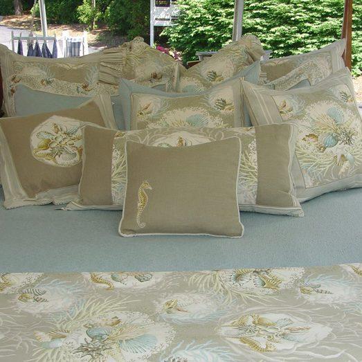 Seaworthy Pillows in Ocean Image
