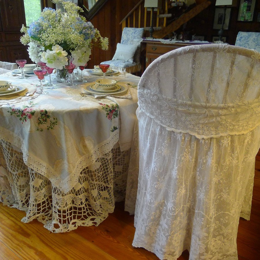Vintage lace table setting Image