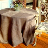 Burlap Suede Table Cover Image