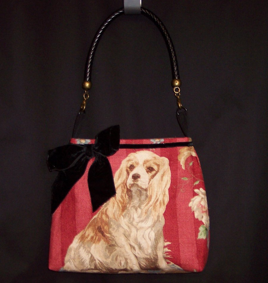 Doggy Purse - Red King Charles Image