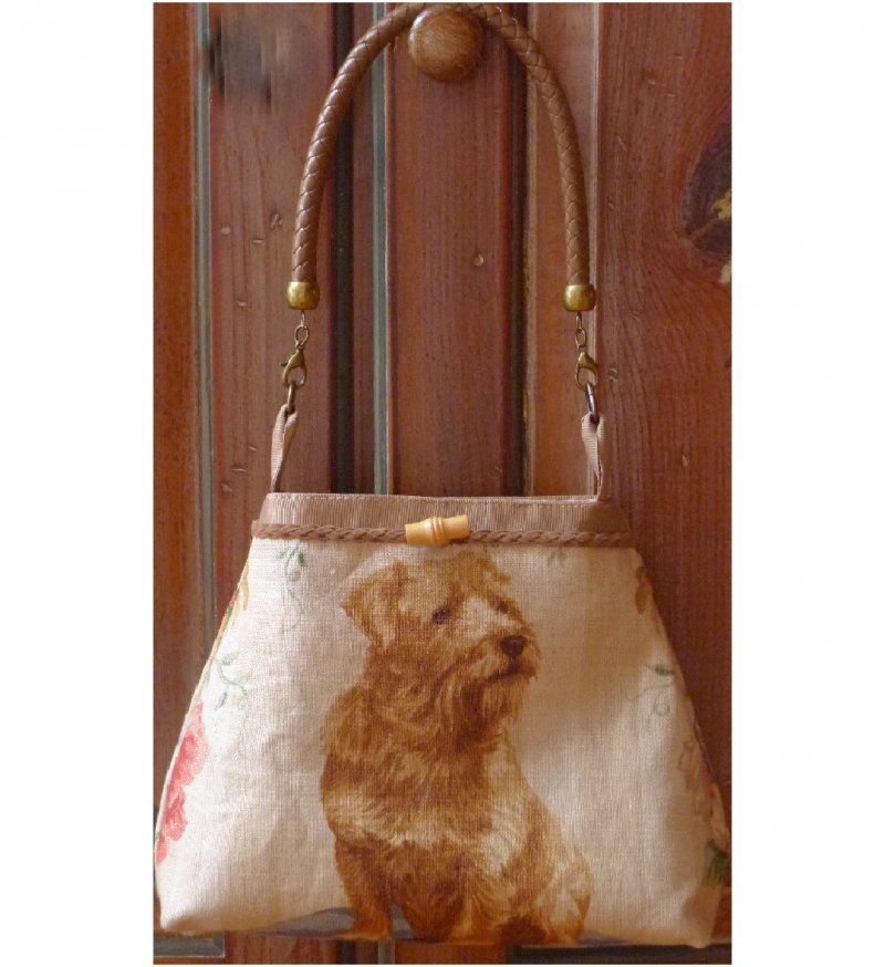 Doggy Purse - Tan Norfolk Image