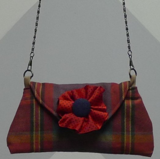 Mini Clutch-Red-Tartan Image