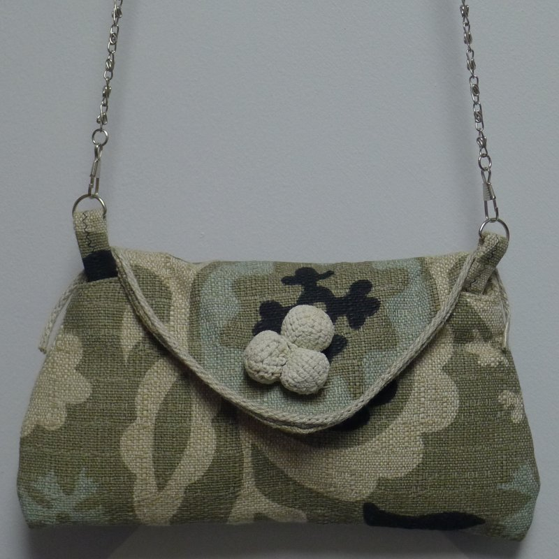 Mini Clutch-Suzani-Gray Image
