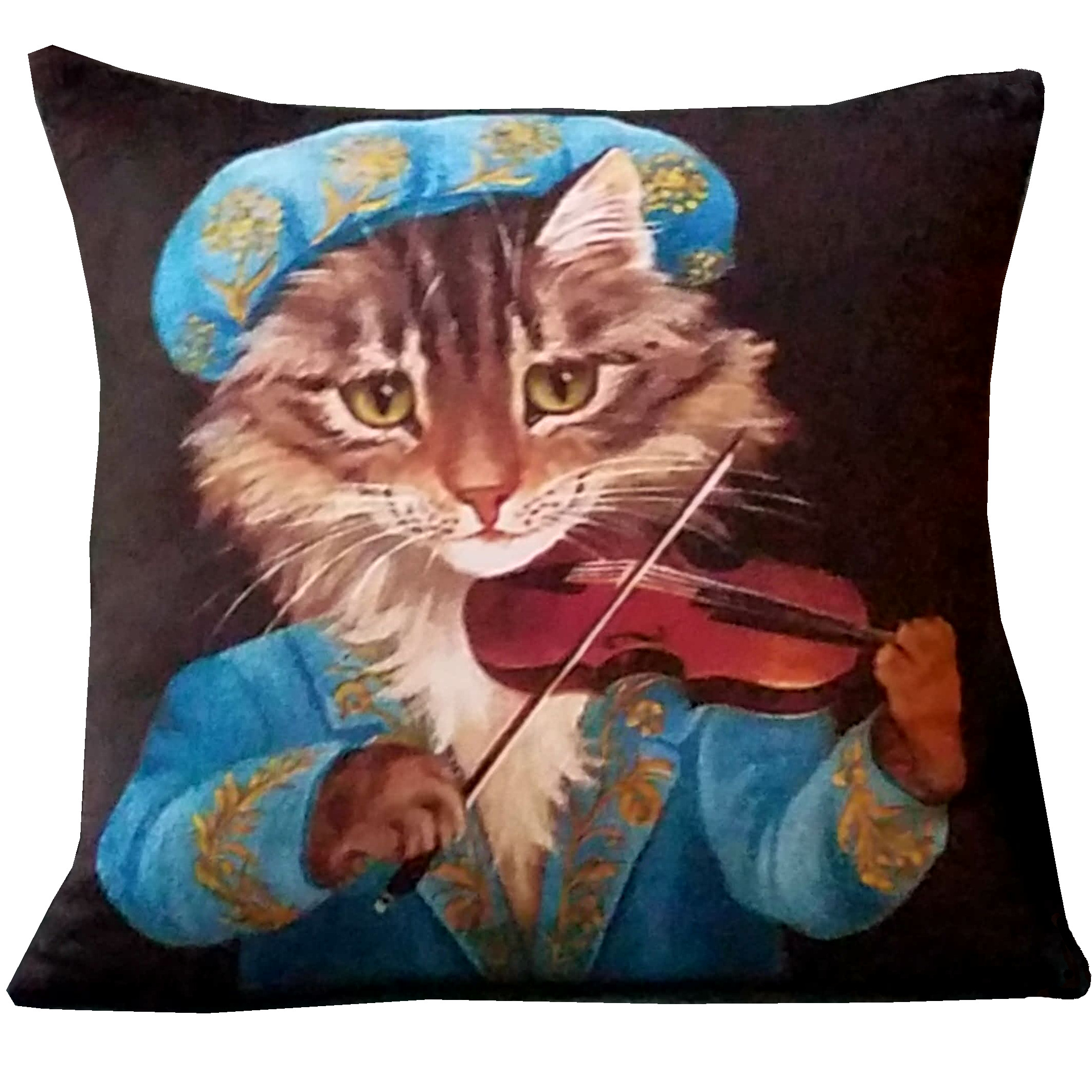 Minky Cat with Violin Image