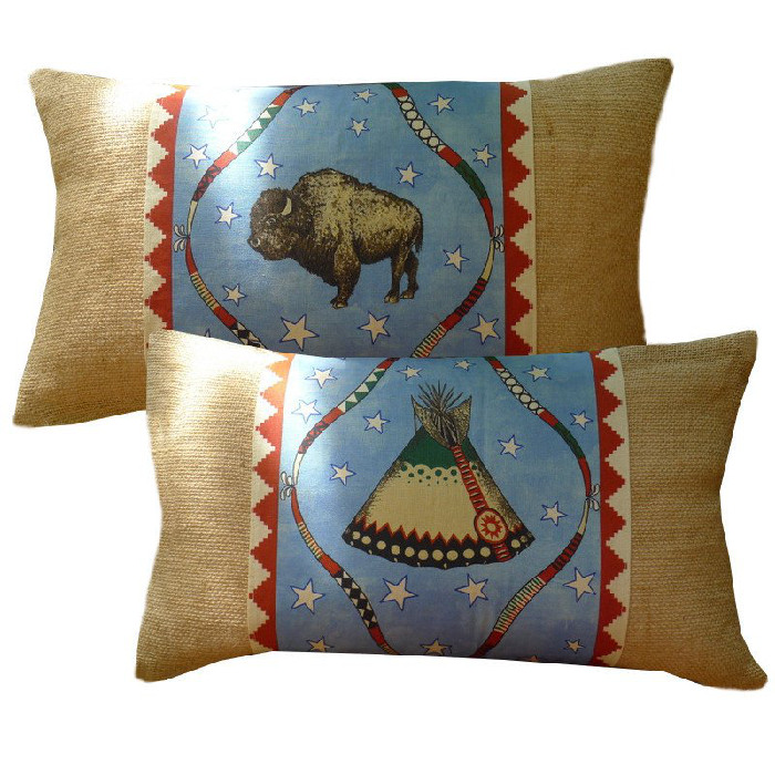 Obi Burlap Buffalo-Tepee 12x20 Image