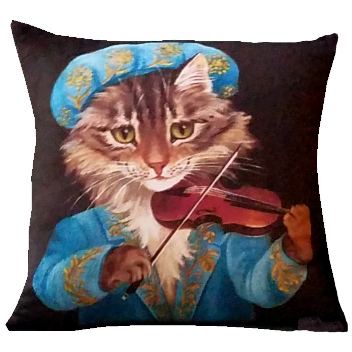 Violin Cat Image